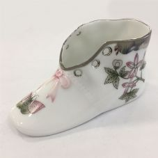 Herend Porcelain of Baby Shoe - Queen Victoria Platinum